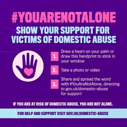 #youarenotalone poster